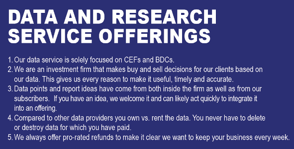 DATA AND RESEARCH SERVICE OFFERINGS
